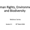 Webinar #1: Introduction to Human Rights and the Environment (PPT 1)